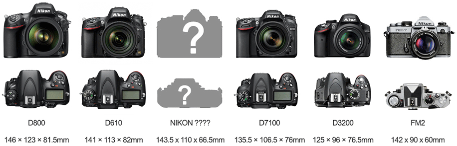Nikon-DSLR-size-comparison