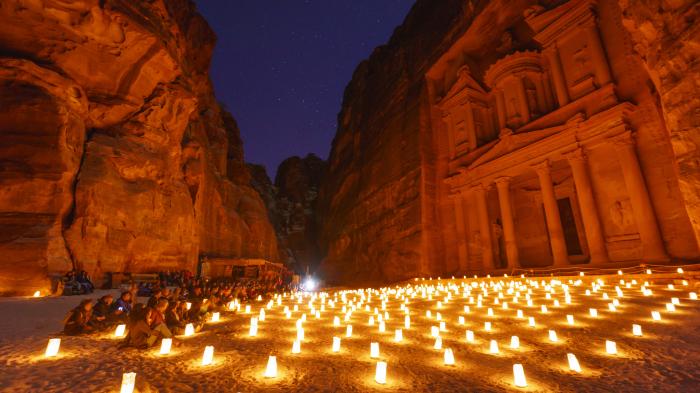 A candlelit concert at Petra, Jordan
