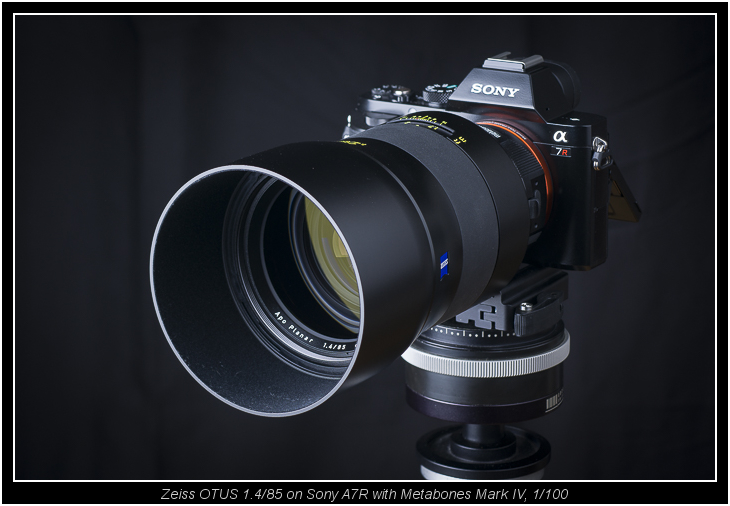 Zeiss OTUS 1.4/85 on Sony A7R with Metabones Mark IV