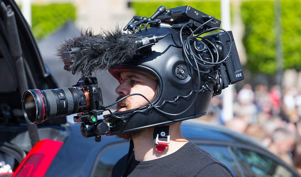 That guy uses the A7 as a helmet action camera ...