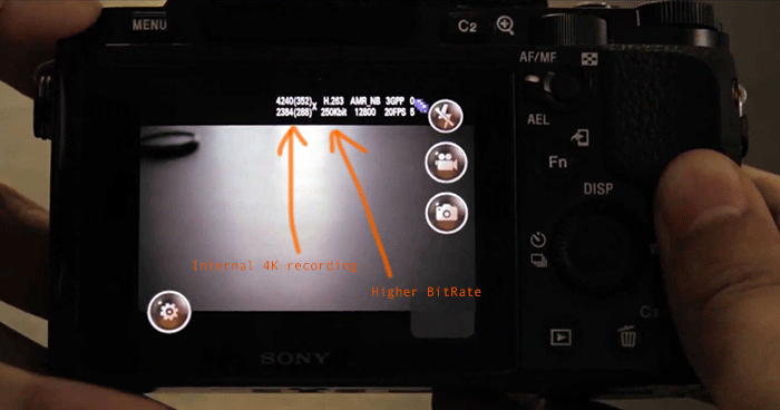 Youtube video shows a hacked(?) Sony A7s  Author claims to