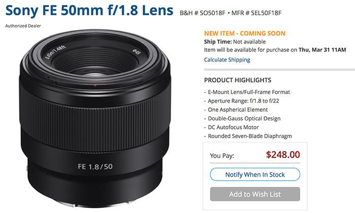 SonyFE50mm