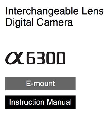 Sony a6300 инструкция