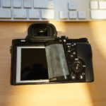Sony a7R LCD protector removal 5