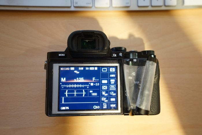 Sony a7R LCD protector removal 7