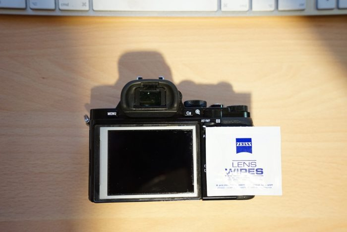 Sony a7R LCD protector removal 9