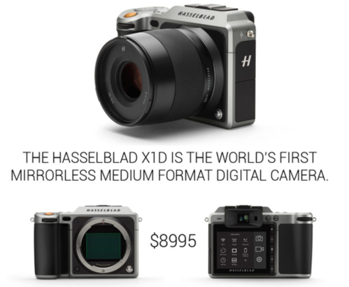 Live video stream now: Hasselblad X1D announcement with Sony 50MP