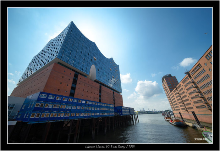 test of pre production lens LAOWA 12mm f/2.8 ZERO-D from Venus Optics, Hamburg Hafencity, Elbphilharmonie