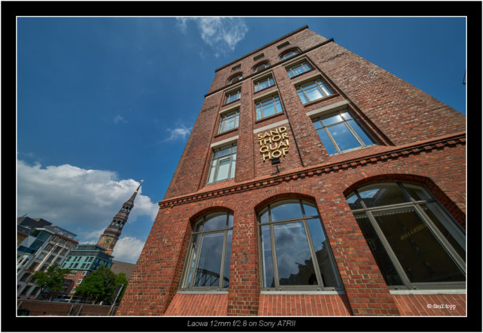 test of pre production lens LAOWA 12mm f/2.8 ZERO-D from Venus Optics, Hamburg Hafencity