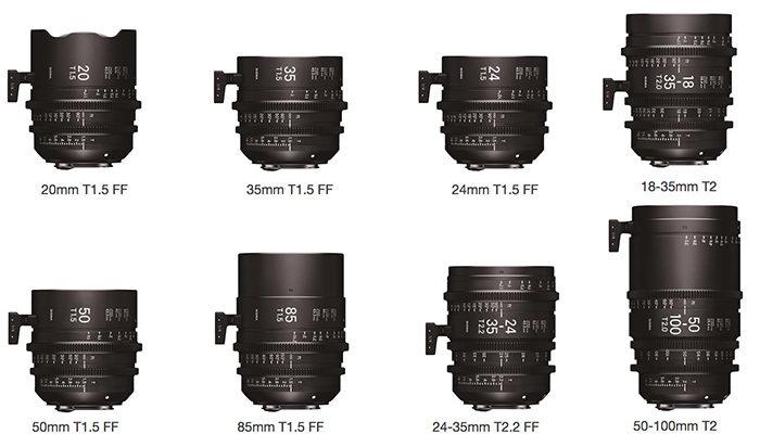 Sigma Announces Eight New E Mount Cine Lenses