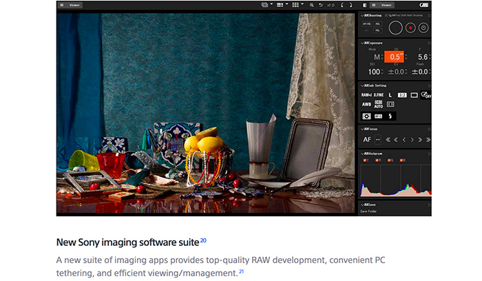 how to use sony imaging edge