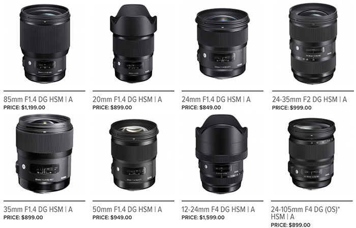 SR5) Sigma\'s first FE lenses will be \