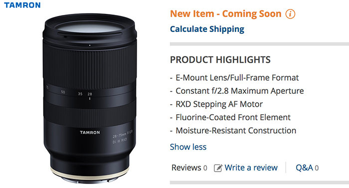 Tamron interview at Dpreview: Confirms they will strongly focus on