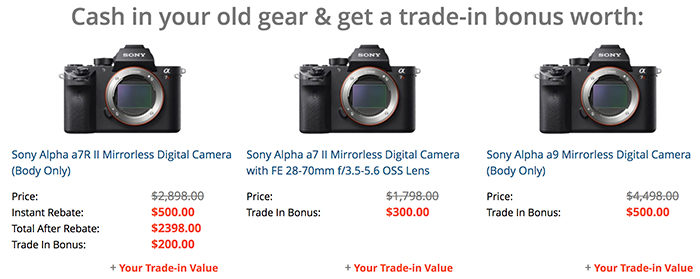 New hot deals: Save up to $900 on Sony gear  And up to $500