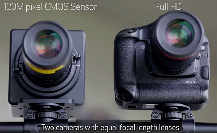 Canon shows video shot with their new 120 megapixel sensor