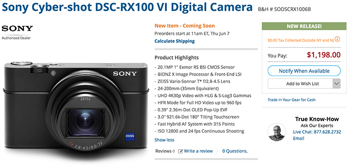 Official: RX100VI and new RX grip announced! - sonyalpharumors