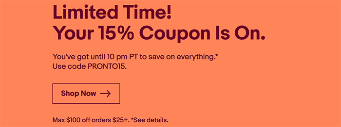 Today Only Coupon Code Gives You 15 Discount Max 100 On All Ebay Products Including All Sony Gear Sonyalpharumors