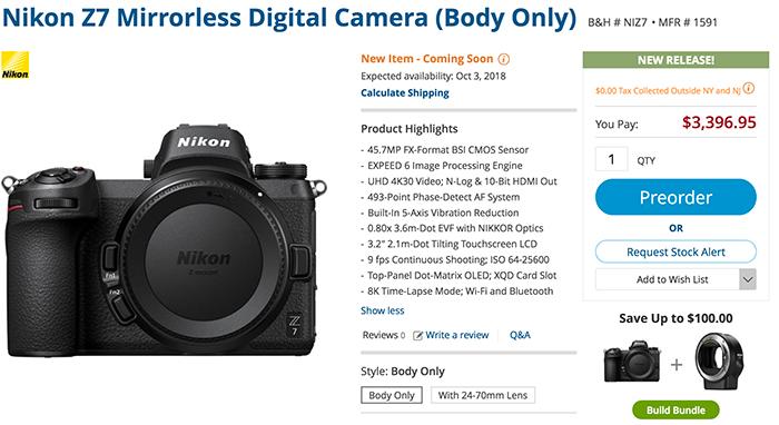 Nikon officially announces the Z7-Z6 cameras - sonyalpharumors