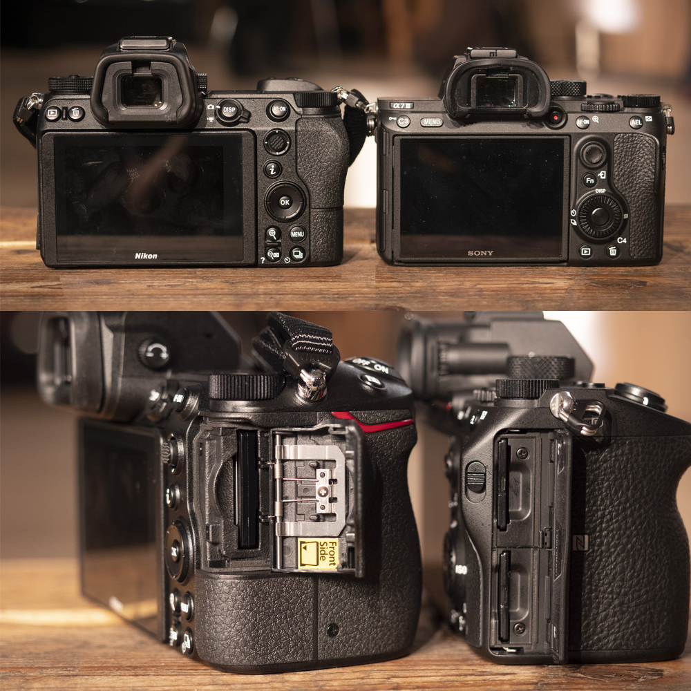 Real Size comparison between the new Nikon Z7 and Sony A7