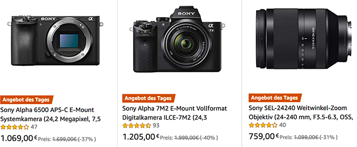Today S New European Black Friday Deals On A6500 A7ii And 24 240mm Fe Sonyalpharumors