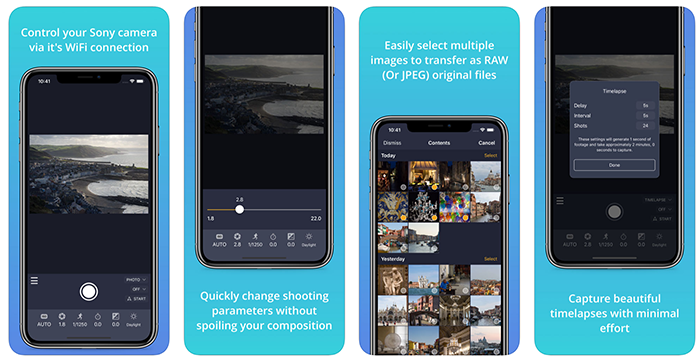 This is cool: New Camrote iOS Sony Remote control App