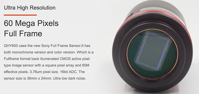 Qhyccd has announced a new camera which uses the new Sony 60