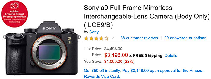 Sony A9 now a desired object thanks to the 5 0 firmware