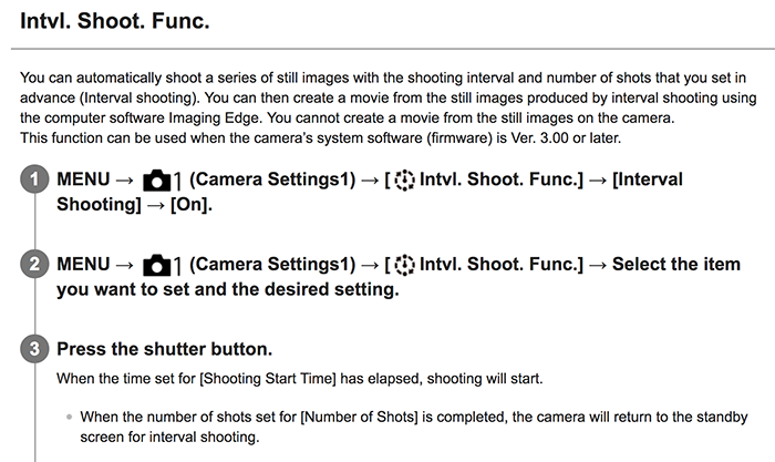 Official Sony A7III Help Guide explains you the new firmware
