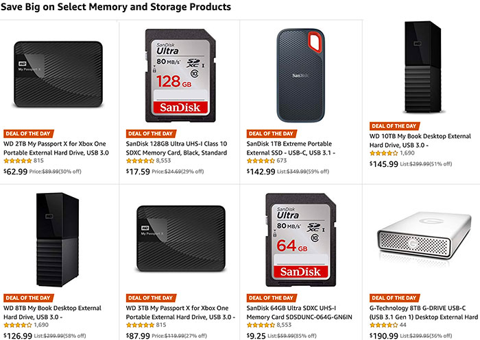 Today S Amazon Gold Box Deal Rund On Sandisk Sd Cards And Lot Of Wd Storage Mirrorlessrumors
