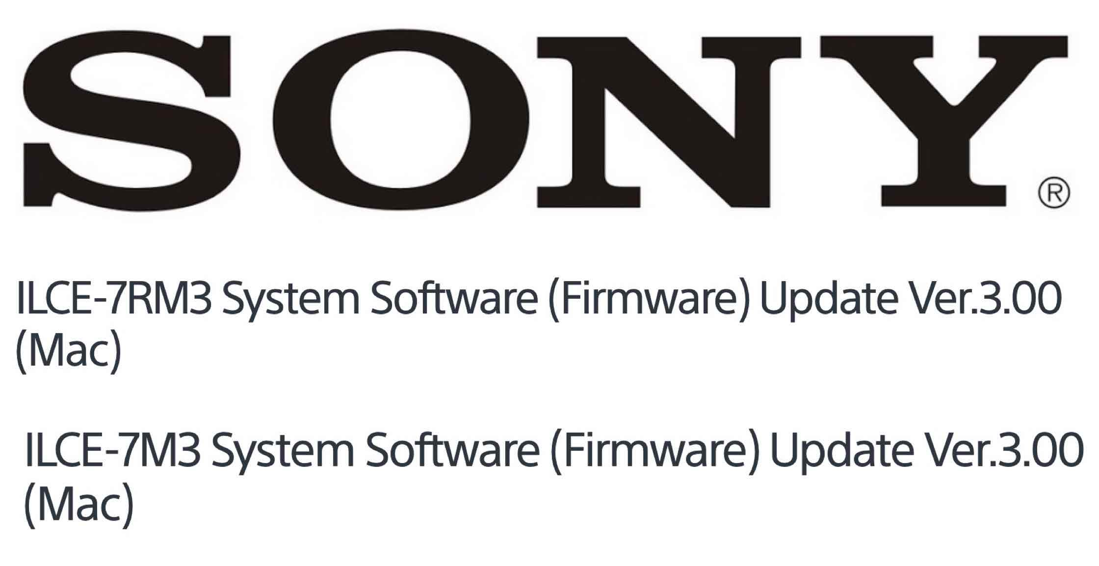 Sony officially released the new A7rIII and A7III firmware updates