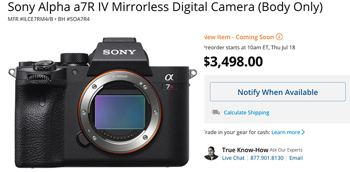 Sony A7rIV officially announced! - sonyalpharumors