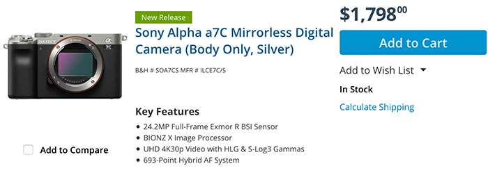 """Sony A7c review by Engadget: """"Smart, small and clumsy"""""""