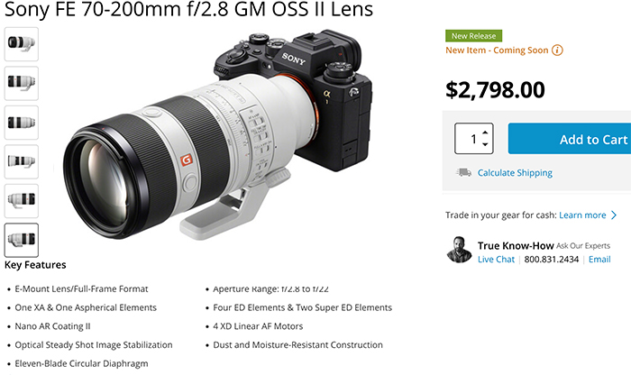 Sony 70-200mm f/2.8 GM II Lens preorders now open in the USA! – sonyalpharumors